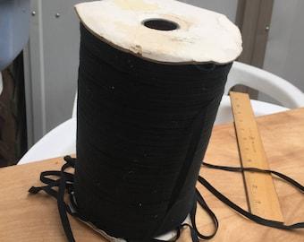 200+ yard Roll Black Twill Tape Ribbon Garment Ties