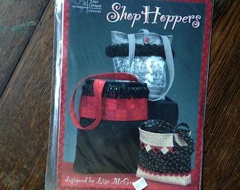 Shop Hoppers. Flat Bottom Purse/Shopping Bag - Sewing PATTERN.