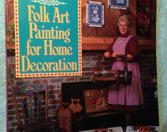 FOLK ART Painting for Home Decoration.  P.Hauser