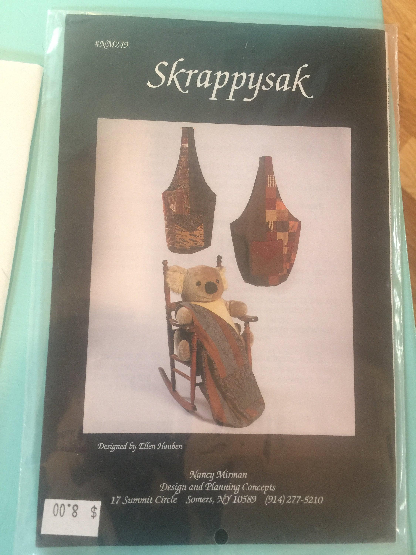 SKRAPPYSAK Markt Korb Umhängetasche Schnittmuster NM249