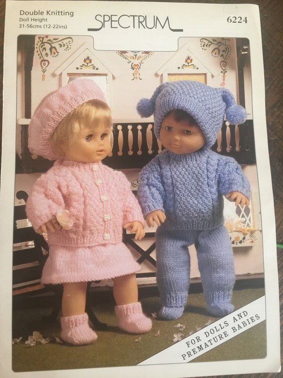 7c5b12efcbc Dolls and Premature Baby Sweaters Skirt Pants Hats PDF Knit