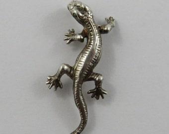 Bermuda Lizard Sterling Silver Vintage Charm For Bracelet