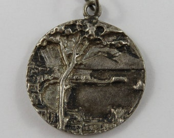 Kapok Tree Sterling Silver Vintage Charm For Bracelet