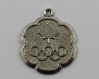 Canada Olympics Sterling Silver Vintage Charm For Bracelet