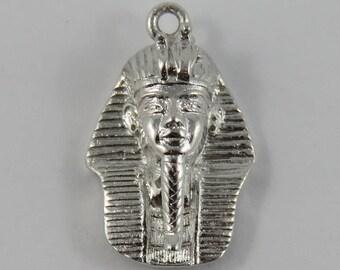 King Tut Sterling Silver Vintage Charm For Bracelet