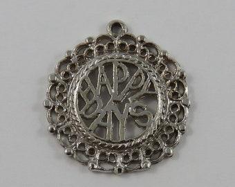 Happy Days Sterling Silver Vintage Charm For Bracelet