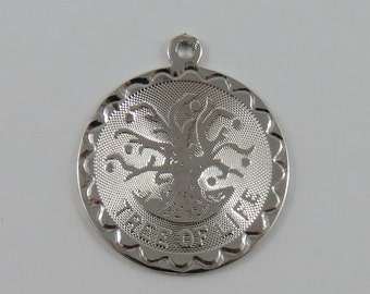 Tree of Life Sterling Silver Vintage Charm For Bracelet