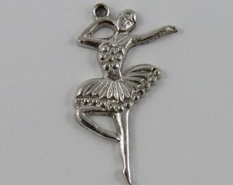 Ballerina Sterling Silver Vintage Charm For Bracelet