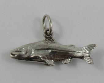 Fish Sterling Silver Vintage Charm For Bracelet