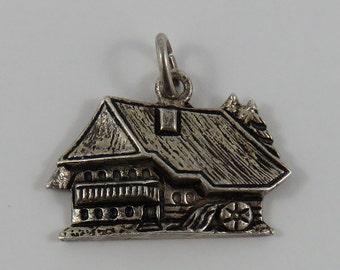 Schwarzwald Water Wheel House Silver Vintage Charm For Bracelet