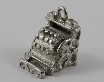 Cash Register Sterling Silver Vintage Charm For Bracelet