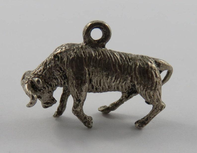 Charging Bull Sterling Silver Vintage Charm For Bracelet
