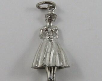 Southern Belle Silver Vintage Charm For Bracelet