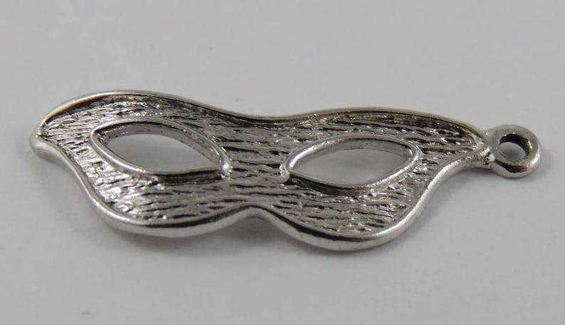 Masquerade Mask Sterling Silver Vintage Charm For Bracelet