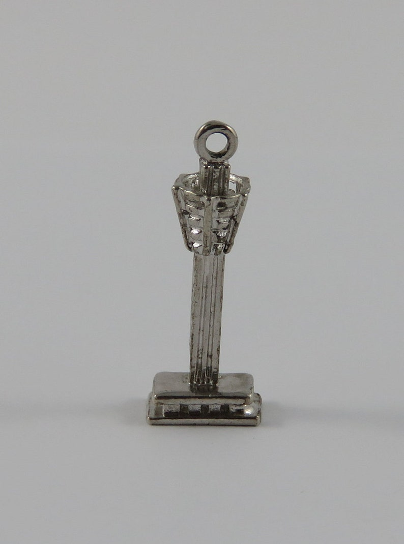 Tower Hotel Niagara Falls Sterling Silver Vintage Charm For Bracelet