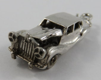 Car With Hood Lifted Sterling Silver Vintage Charm For Bracelet