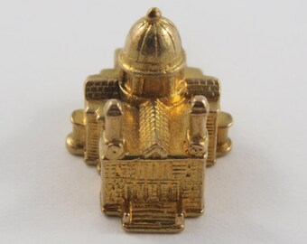 St.Pauls Cathedral London, England 9K Gold Vintage Charm For Bracelet