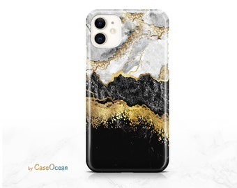 Marble Pattern Gold Foil Phone Case iPhone 12 11 Pro iPhone XR XS iPhone 8 7 6 Plus Case for Galaxy Note 9 Note 8 S10 S9 S8 Plus Huawei P30