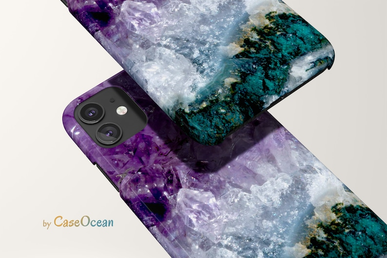 Amethyst Phone Case iPhone 12 11 Pro iPhone XR XS iPhone 8 7 image 1