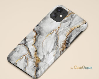 Marble Grey Phone Case iPhone 12 11 Pro iPhone XR XS iPhone 8 7 6 Plus Case for Galaxy Note 9 Note 8 S10 S9 S8 Plus Huawei P30