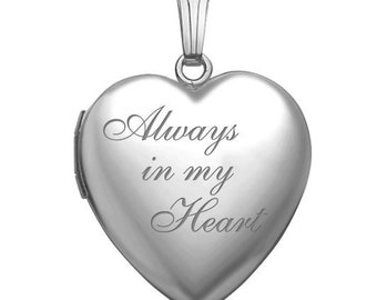 BULK 10 Always in my heart charms antique silver tone M754