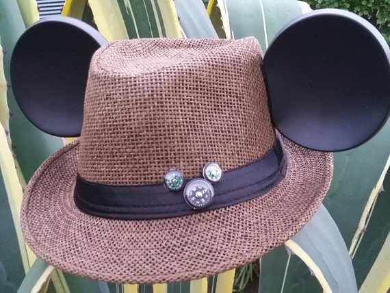 Mickey Straw fedora. Coffee brown fedora.  Traveling mickey.