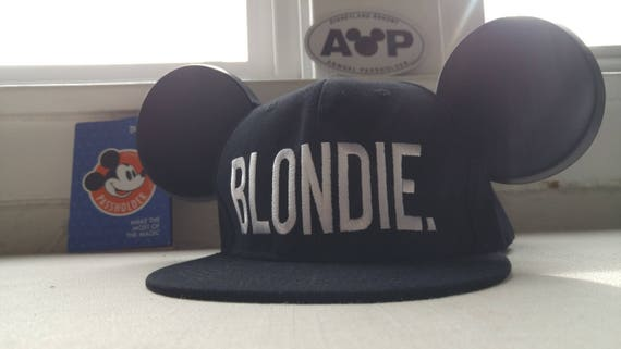 Mickey Hat. Blondie.