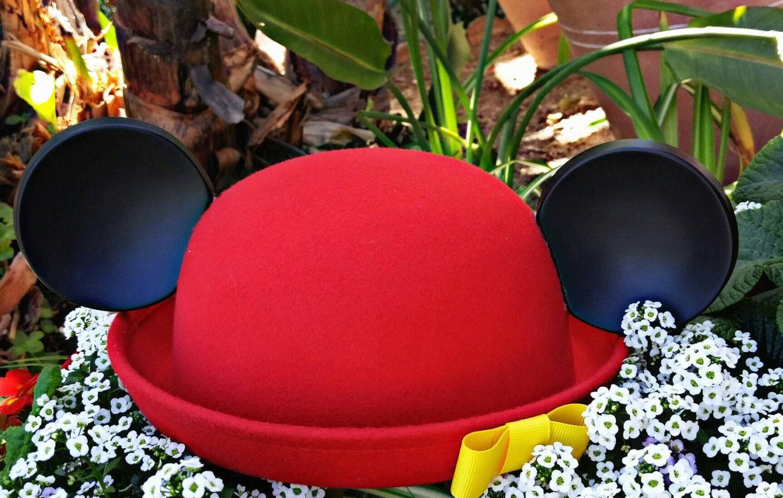 d53c9cf2991 Mickey ears. Minnie Hat. Red cloche. Original Disneyland Hat. Mickey ...