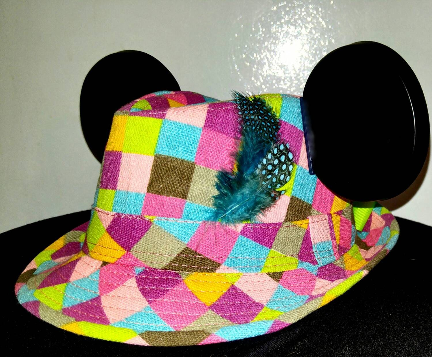 Girls Mickey Hat. Disneyland hat. Childrens Mickey Mouse Hat ... 8b9da51b39bb