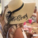 Personalized straw hat, Embroidered floppy beach hat, Mrs hat, Customized sun hat, Bridal straw hat, Honeymoon hat, Personalized gift