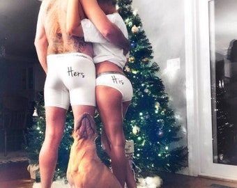 Couples matching underwear set his and hers, Couples gift, Honeymoon His and Hers gift, Couples wedding underwear