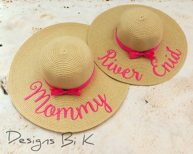 79b70a3ed8764f Mommy and me beach hats Custom mother and daughter beach | Etsy