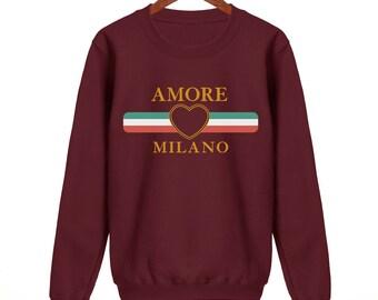 ac7ad0d4892 Amore Sweatshirt Womens Mens Unisex Funny Sweat Swag Hipster Fashion Slogan