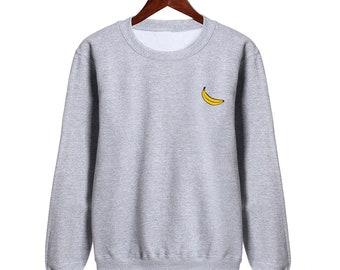 16a1f2364 Banana Sweatshirt Womens Mens Unisex Funny Sweat Swag Hipster Fashion Slogan