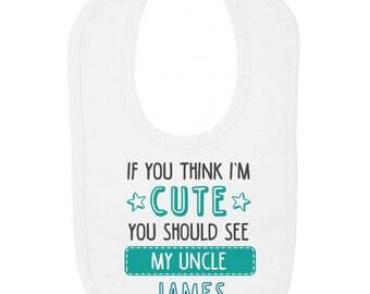 Love Daddy a la Luna Personalizado Babero de Bebé Divertido Lindo Papá Personalizado