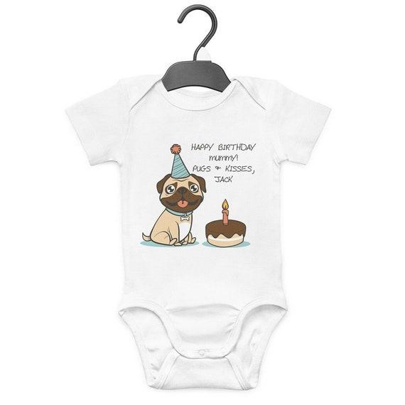 Hug A Pug Baby Grow Bodysuit Vest Funny Humour Gift Cute