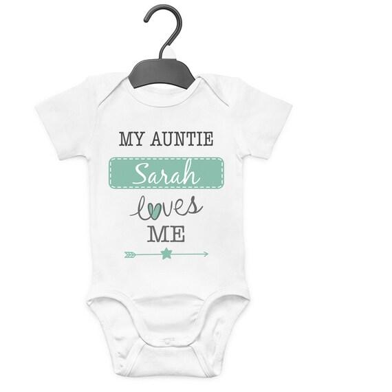 UNCLE IS MY BESTIE PERSONALISED BABY GROW VEST CUSTOM FUNNY GIFT CUTE