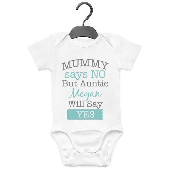 Born to Go Shopping mit Meine Tante Mädchen Neu Baby Westen Body für Jungen