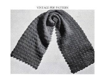 PA-314 Crochet Pattern PDF Glitzy Shells Scarf