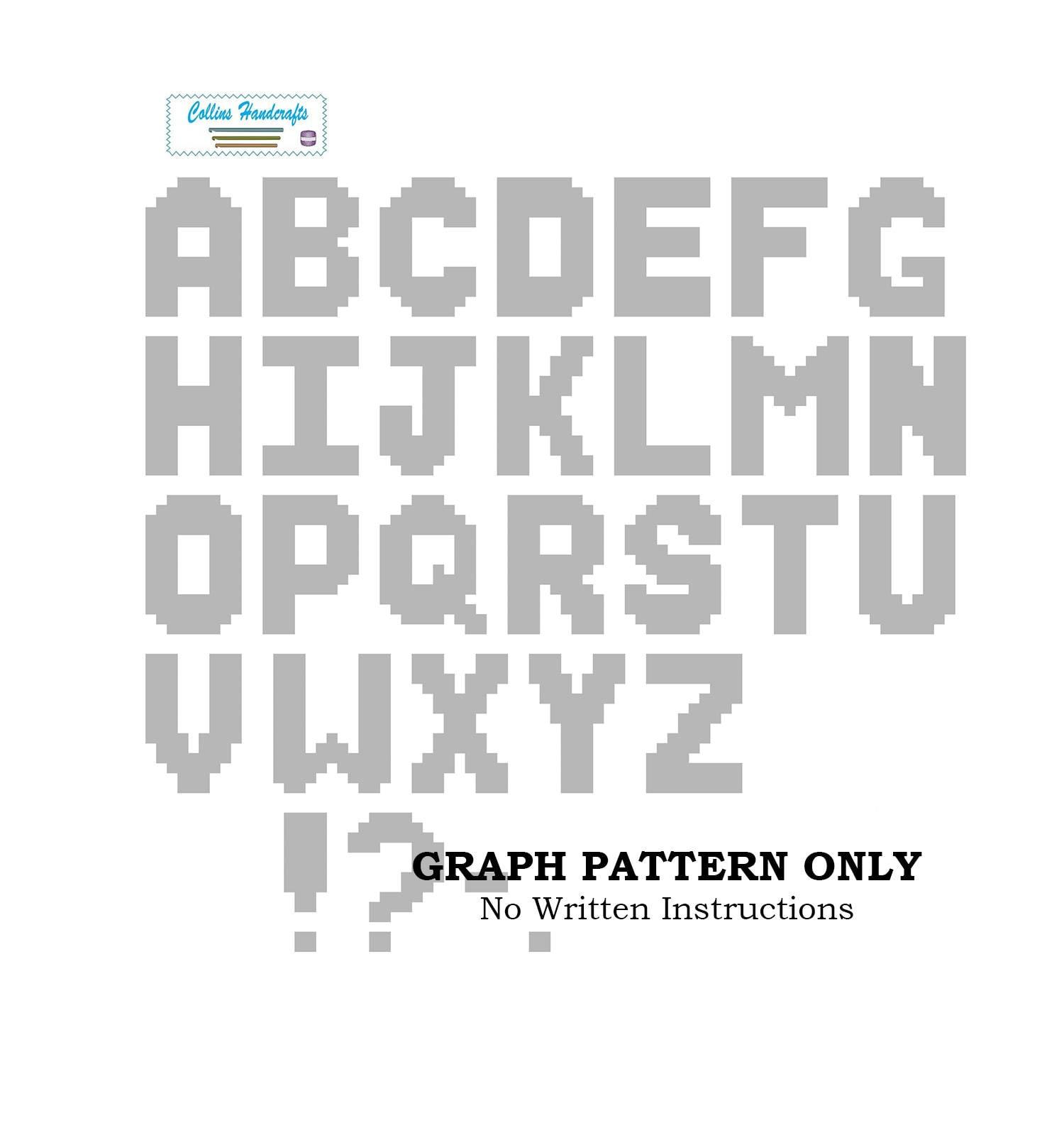 Pattern Graphgan Alphabet Etsy