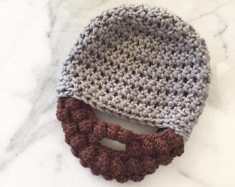 Crochet Beard hat, Crochet baby beard hat, beard hat, baby boy hat, boys hat, crochet beard beanie, crochet men's hat, men's hat