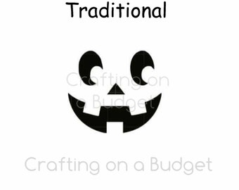 Halloween Stencil- Jack O' Lantern Pumpkin Face (for baking, crafting and more!) FREE US SHIPPING!!!