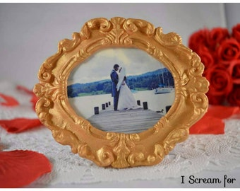 GOLD CHOCOLATE framed COOKIES!! 100% Edible!! Perfect Wedding Favors!!