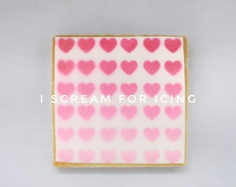 Valentine Hearts Background Stencil (for cookies, cakes, crafting and more!) FREE US SHIPPING!!!