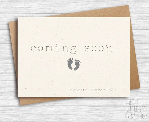Pregnancy Announcement Card: Coming Soon Cards Pregnancy Announcement Cards We're