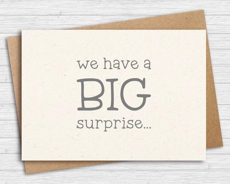 A big suprise