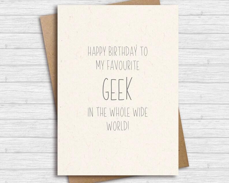 Carte Danniversaire Drole Carte Danniversaire Geek Joyeux Etsy