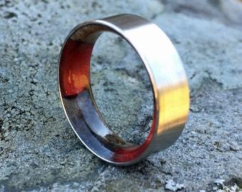 Titanium Ring, Wood Ring, Resin Ring, Mens Ring, Wood Wedding Band, Womens Ring, Custom Ring, Wood Engagement Ring, Buckey Burl Wood Ring