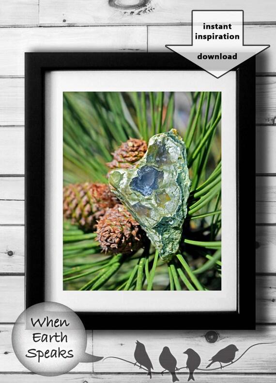 Impresión De Piedra Arte De La Naturaleza Para Imprimir 8 X 10 5 X 7 Del Corazón