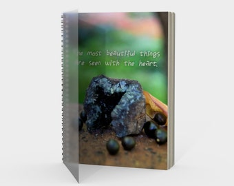 Inspirational Spiral Notebook with Beautiful Photography